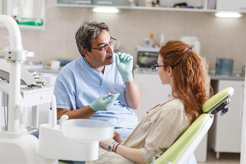 Women Having Consultation with a Periodontist in Regina, SK